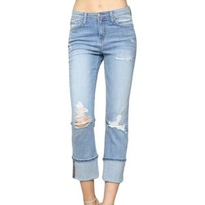 FLYING MONKEY High Rise Distressed Jeans